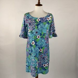 Lilly Pulitzer Blue Floral Somerset Casual Dress